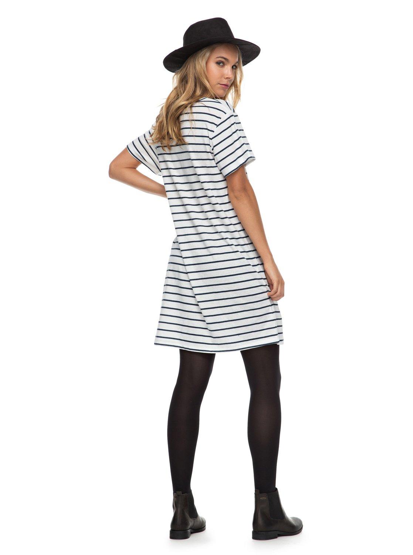 Just Simple Stripe Short Sleeve T Shirt Dress For Women Erjkd03131