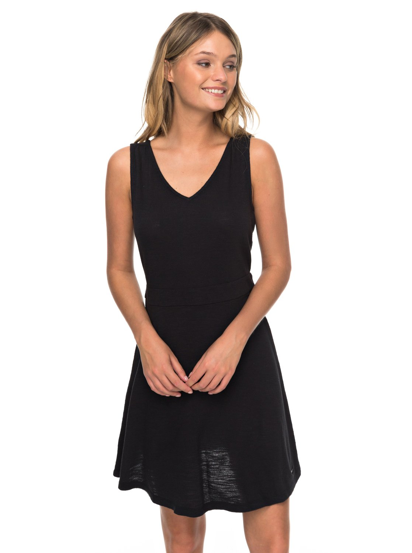 Negro Vestido Buying 0 ERJKD03246 Roxy sin Time para Mangas Mujer 6Rwq0xg 7a7553698c9