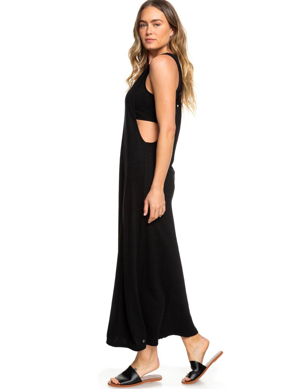 Way That Robe 1 Noir longue Roxy ERJKD03250 pour manches sans Femme 1aRnxq