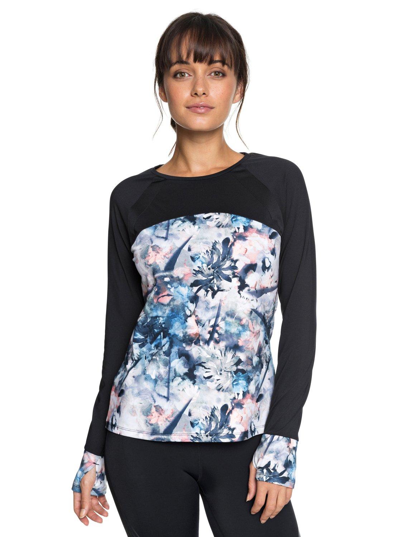 0 Cold Run - T-shirt de sport à manches longues pour Femme Bleu ERJKT03456 396d7df78d5
