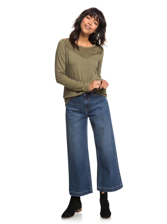 Shirt Erjkt03460 Day Blossom T Femme Manches Pour Longues Roxy Pw6xq04Ex