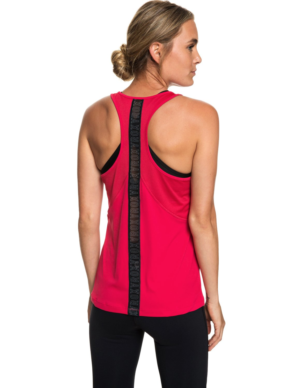 6050e1b1f20f17 2 Chasing Sunset - Racerback Running Vest Top for Women Pink ERJKT03505 Roxy