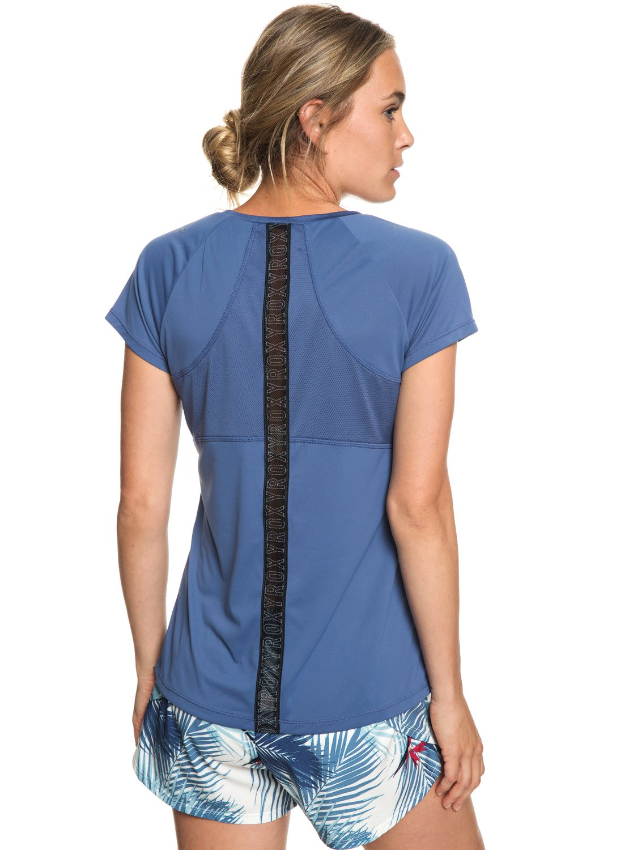 3 Chasing Sunset - T-shirt de running pour Femme Bleu ERJKT03508 Roxy 4ddc5fef947