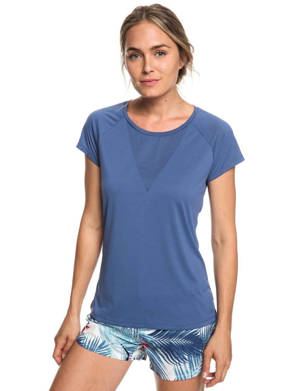 0 Chasing Sunset - T-shirt de running pour Femme Bleu ERJKT03508 Roxy c9b62a8bb2e