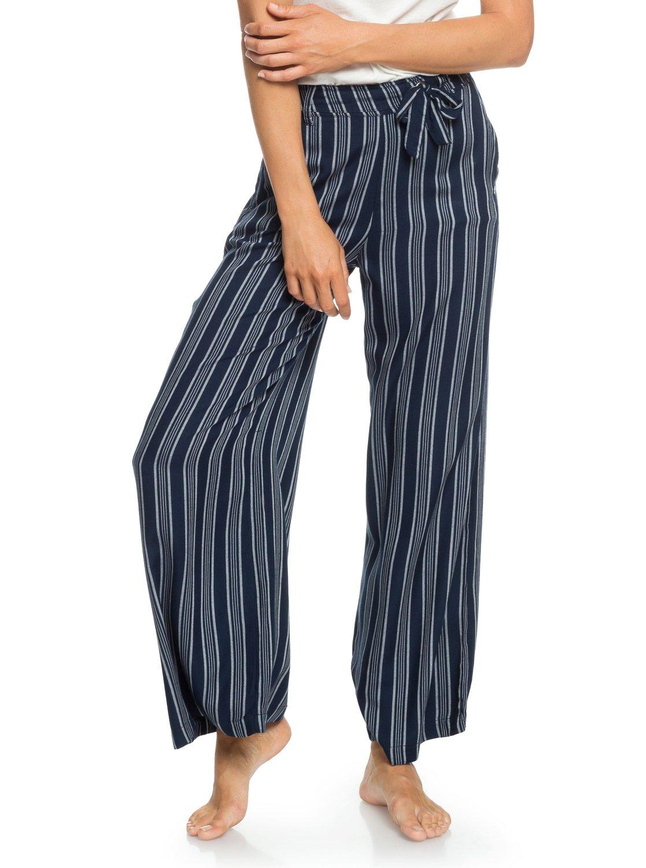 ace07b61f3883 1 Waterfall Light - Pantalón de pata ancha para Mujer Azul ERJNP03188 Roxy