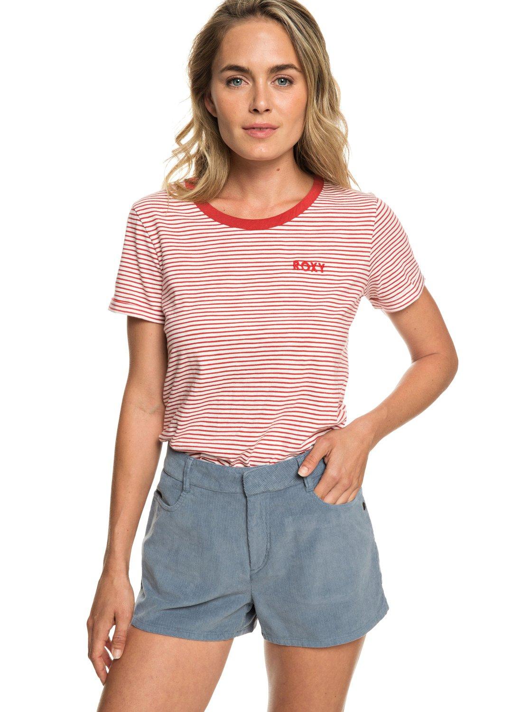 0 Boy Rules - Short taille haute en velours pour Femme Bleu ERJNS03208 Roxy d72aec32849
