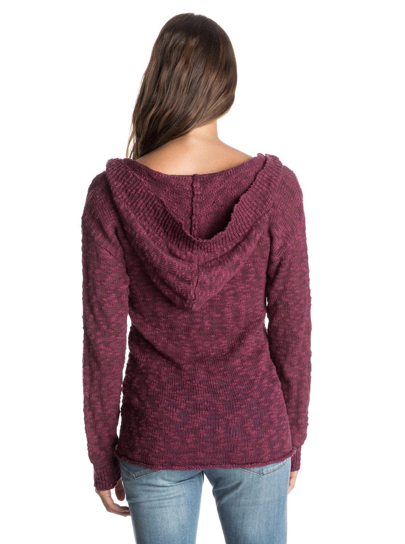 Warm Heart Hooded Poncho Sweater 888701618706 Roxy