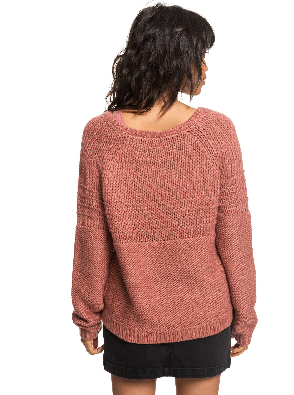 Stories Urban Pour Erjsw03274 Rond Pull Roxy Col Femme 4 Rose 7vgqwxw