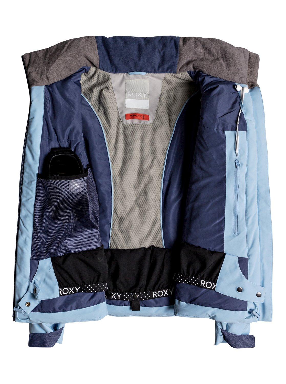 2 Flicker - Quilted Snow Jacket for Women Blue ERJTJ03157 Roxy e352beb78