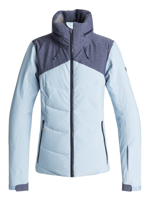 0 Flicker - Quilted Snow Jacket for Women Blue ERJTJ03157 Roxy 6488cf7e4
