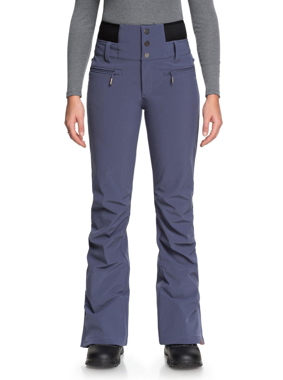 Azul para 0 Roxy shell ERJTP03067 Pantalón Rising Mujer nieve para High IIHq8wa