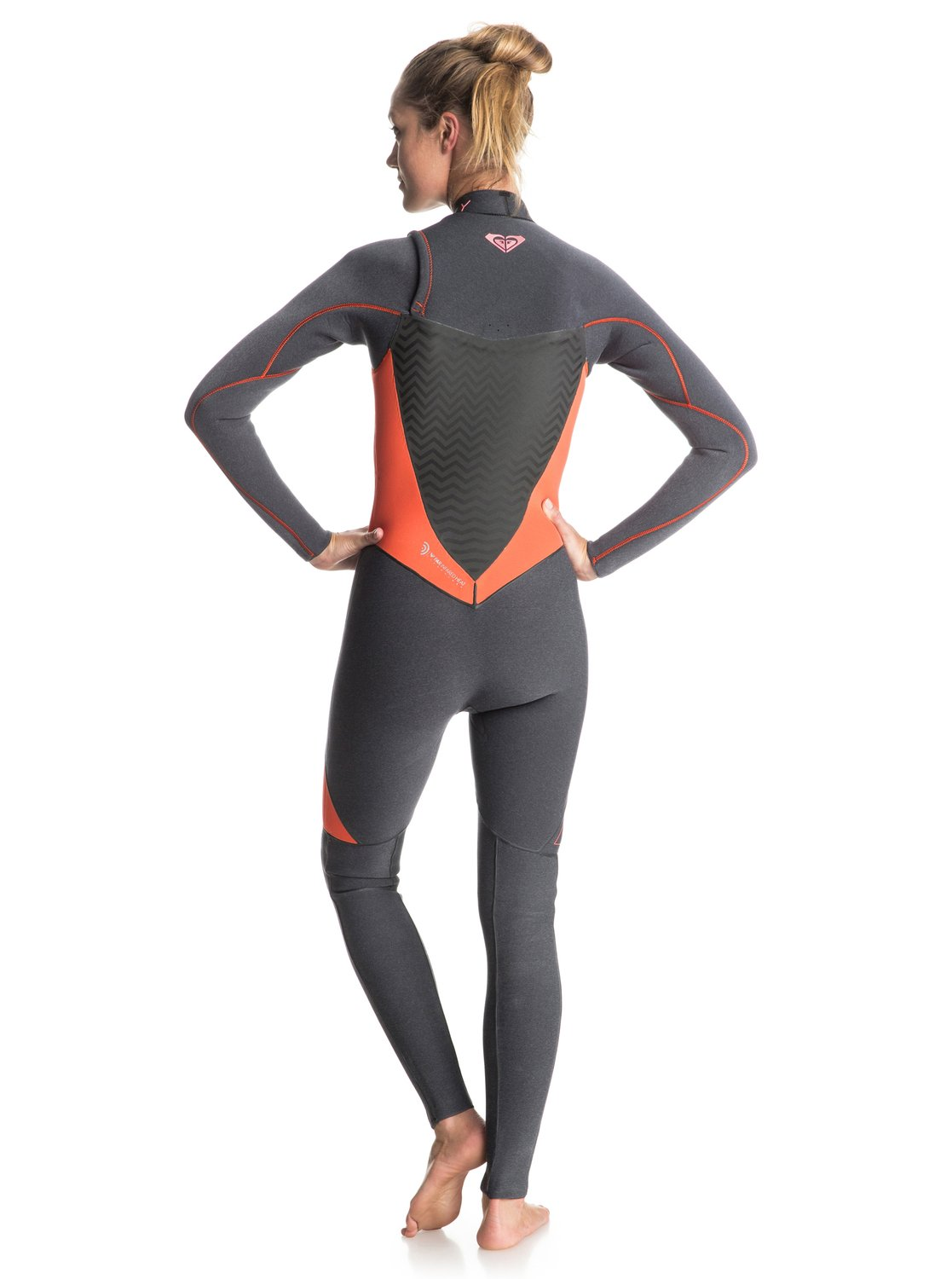 4941053f46b 1 Performance 3 2mm - Chest Zip Full Wetsuit Grey ERJW103002 Roxy