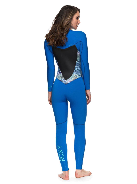 280d2918e9 1 4 3mm Syncro Series - Chest Zip GBS Wetsuit for Women Blue ERJW103022 Roxy