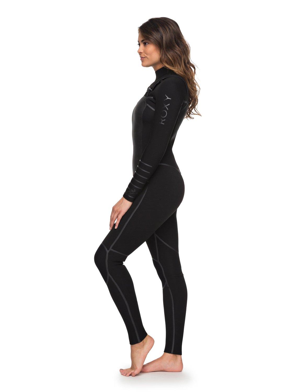 9455a8583a 1 3 2mm Syncro Plus Chest Zip Wetsuit Black ERJW103026 Roxy