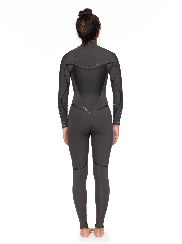 15c6b0a2a3 2 4 3mm Syncro Plus Chest Zip Wetsuit Grey ERJW103030 Roxy
