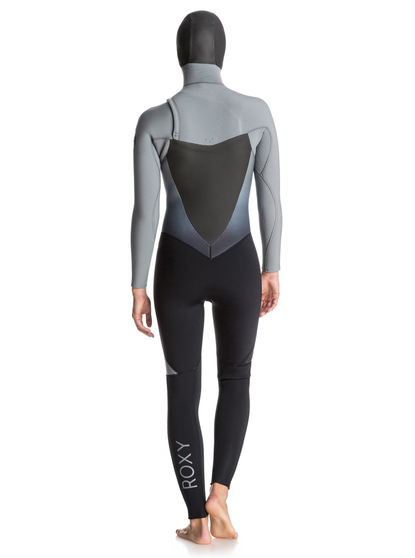 2 Syncro 5 4 3mm - Chest Zip Hooded Full Wetsuit ERJW203001 Roxy c89b42a11