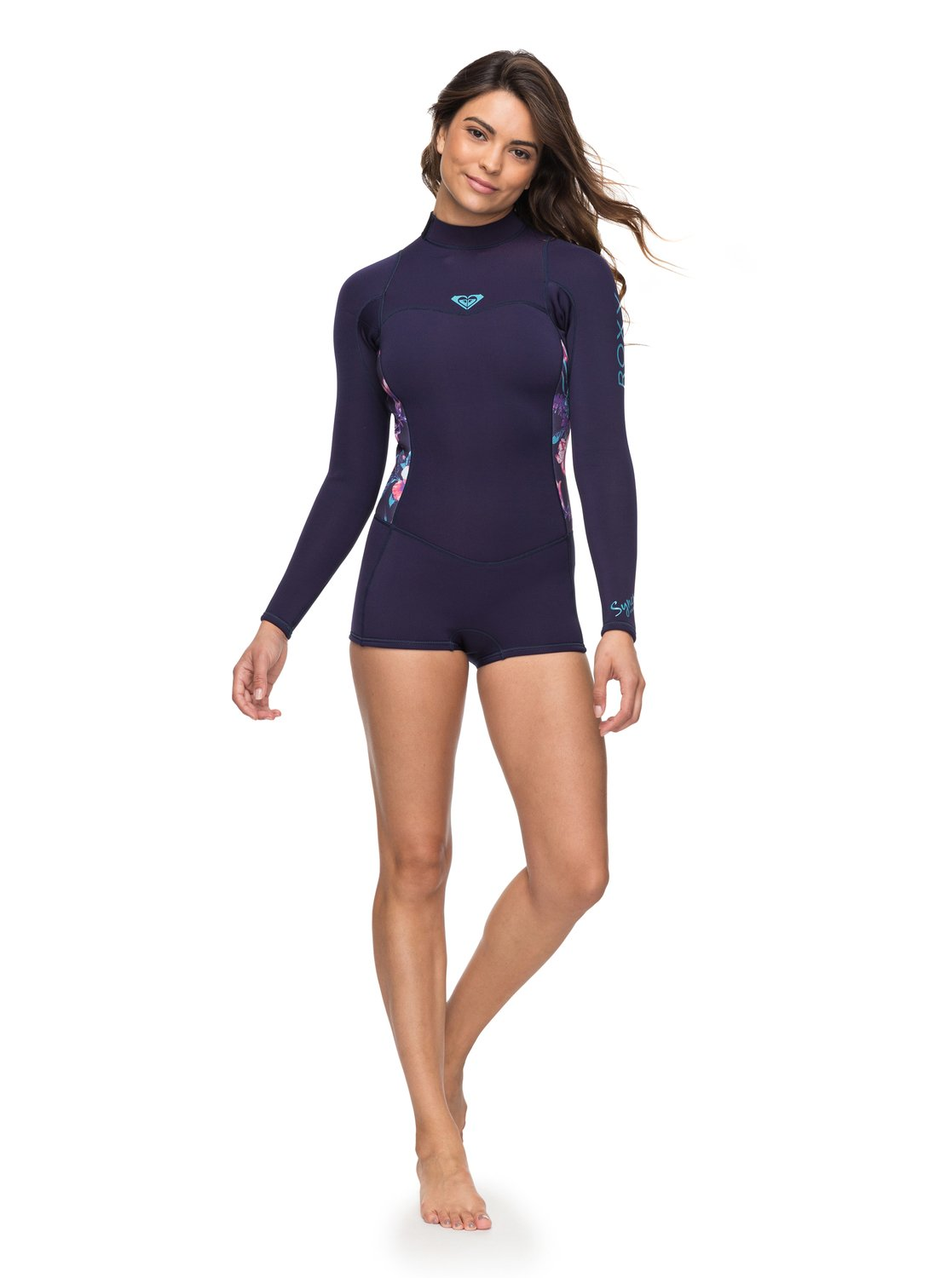 88f6cec18c 2 2 2mm Syncro Series Long Sleeve Back Zip FLT Springsuit Blue ERJW403014  Roxy