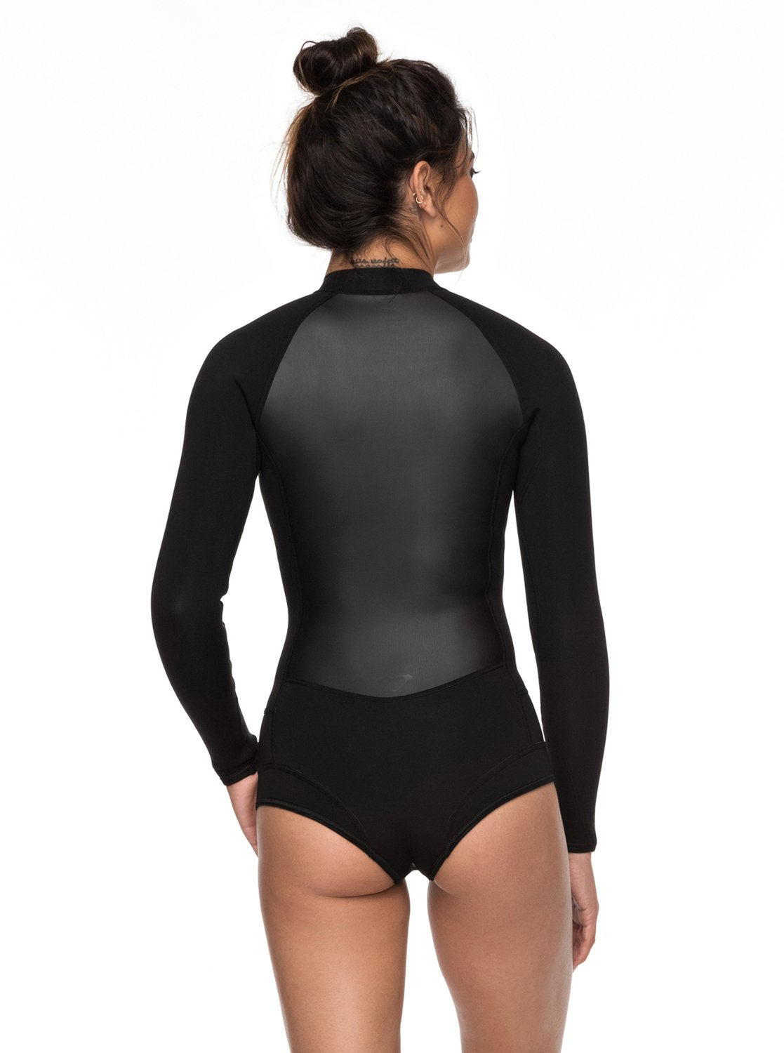 3 1mm Satin Long Sleeve Cheeky Cut Front Zip Springsuit Black ERJW403018  Roxy e6f39de65