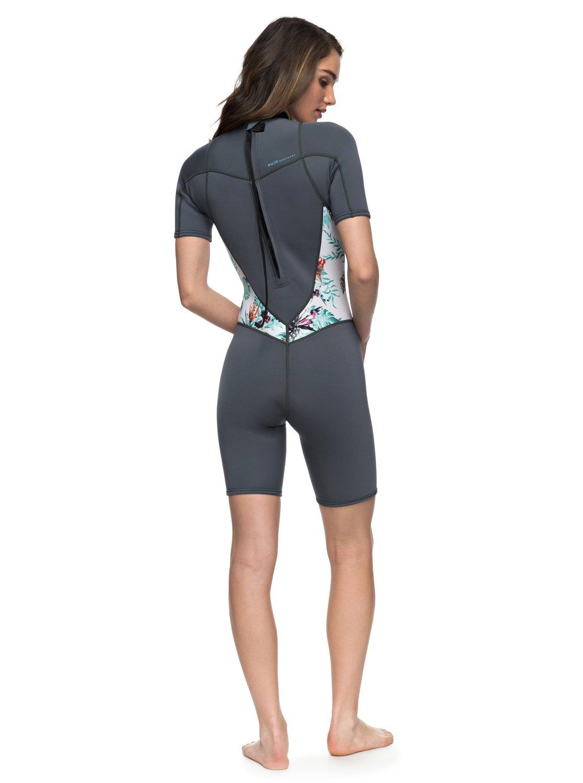 1 2 2mm Syncro Series - Short Sleeve Back Zip FLT Springsuit for Women Blue 7babd6ad8