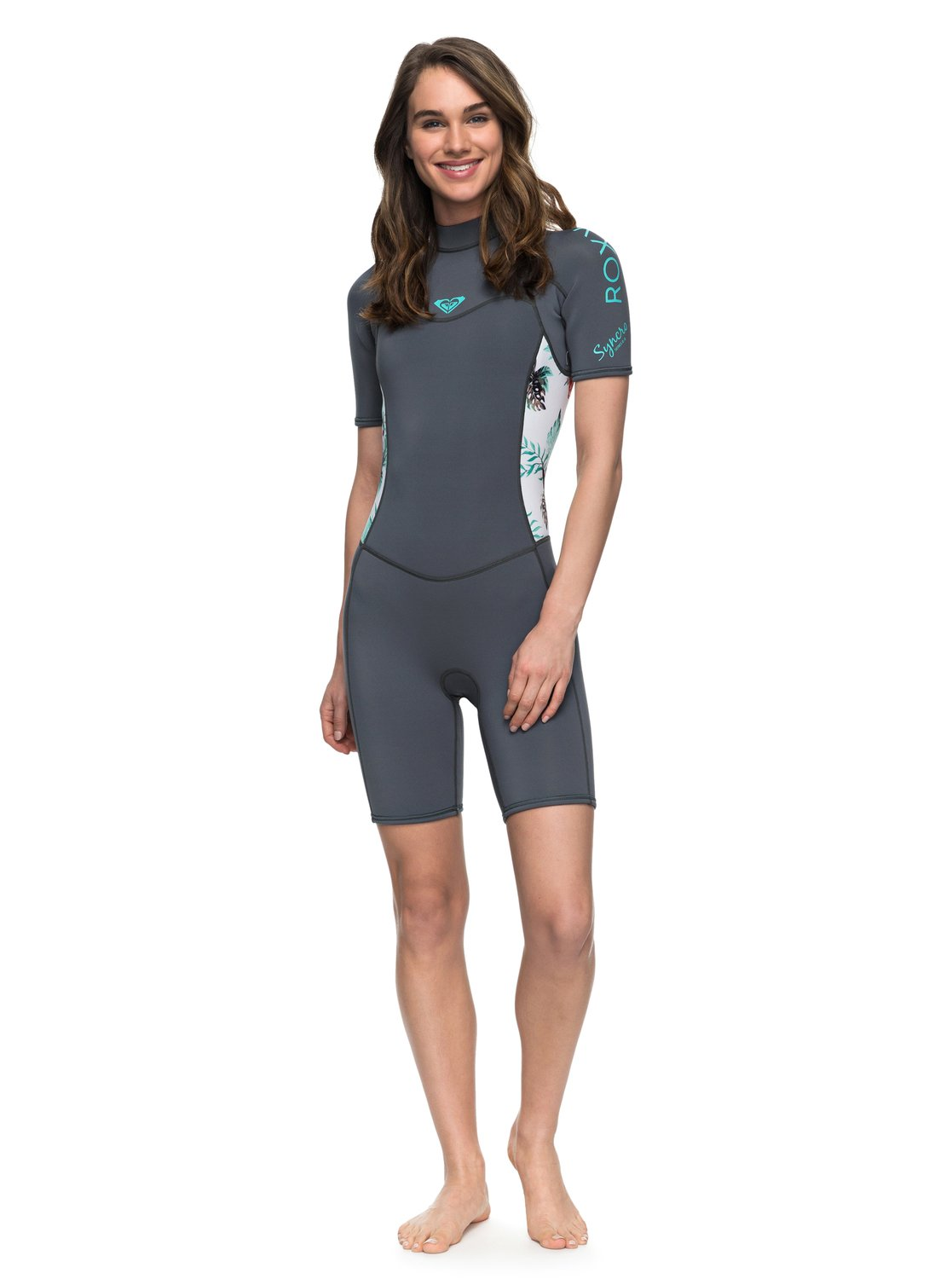 f26cd1395f 0 2 2mm Syncro Series - Short Sleeve Back Zip FLT Springsuit for Women Blue