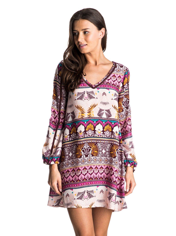 havana long sleeve dress erjwd03132 roxy