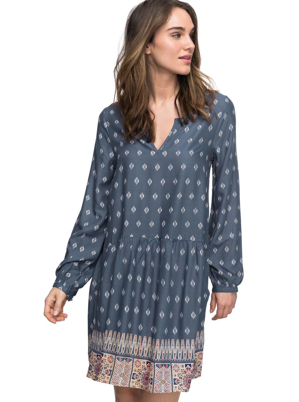 Sunkissed Daze Long Sleeve Dress Erjwd03152 Roxy