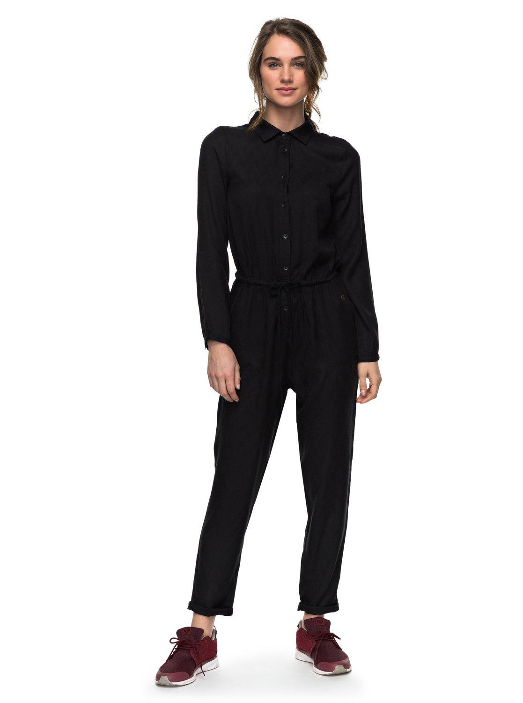 e6c3b1b93b 0 Spaceship Traveler - Long Sleeve Jumpsuit for Women Black ERJWD03162 Roxy