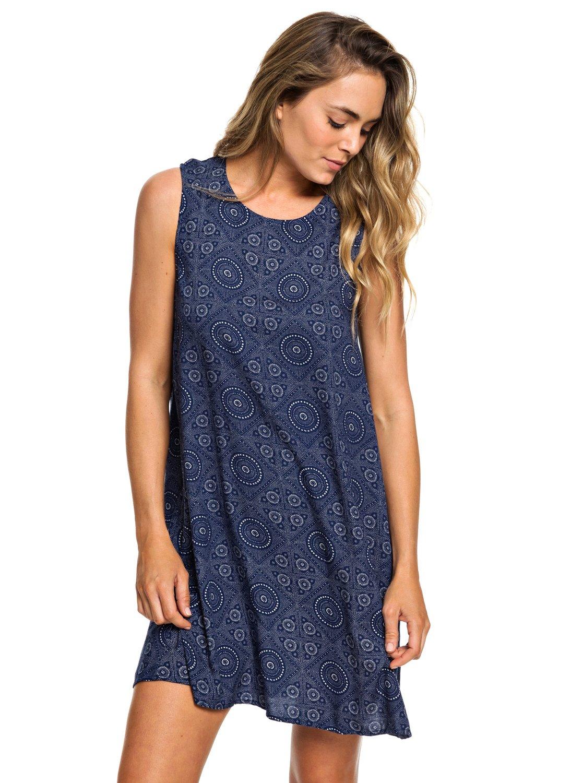 0 Harlem Vibes Sleeveless Dress Blue ERJWD03296 Roxy 5ce3d66b4f7