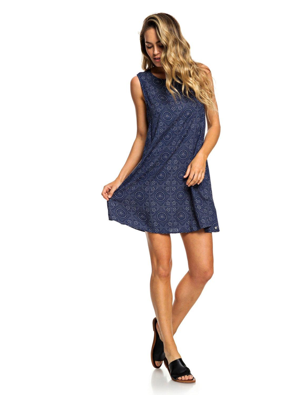 2 Harlem Vibes Sleeveless Dress Blue ERJWD03296 Roxy accbc19ac9d