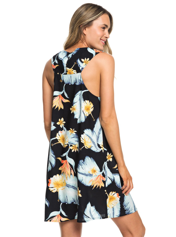 3 Harlem Vibes - Sleeveless Dress for Women Black ERJWD03296 Roxy 1df88eb69aa