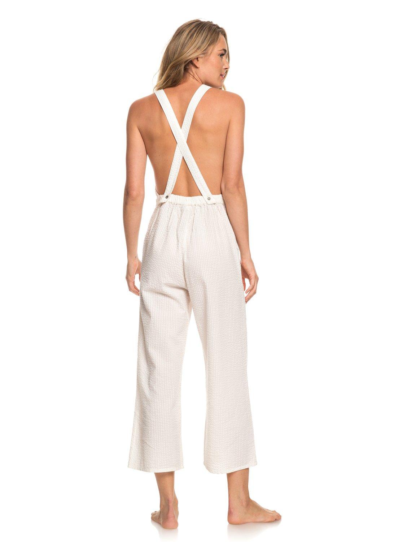 b74d16a8083b 4 West Cozy Place - Strappy Jumpsuit for Women White ERJWD03301 Roxy