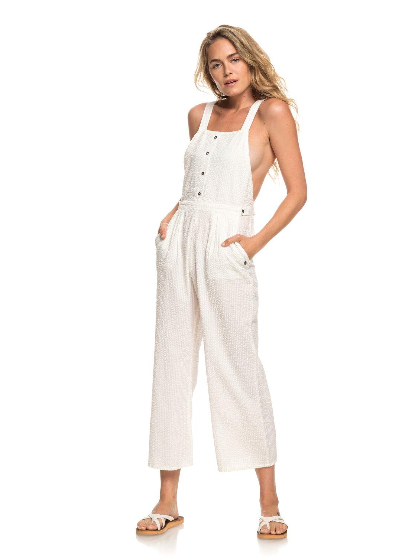 fa002c069444 3 West Cozy Place - Strappy Jumpsuit for Women White ERJWD03301 Roxy