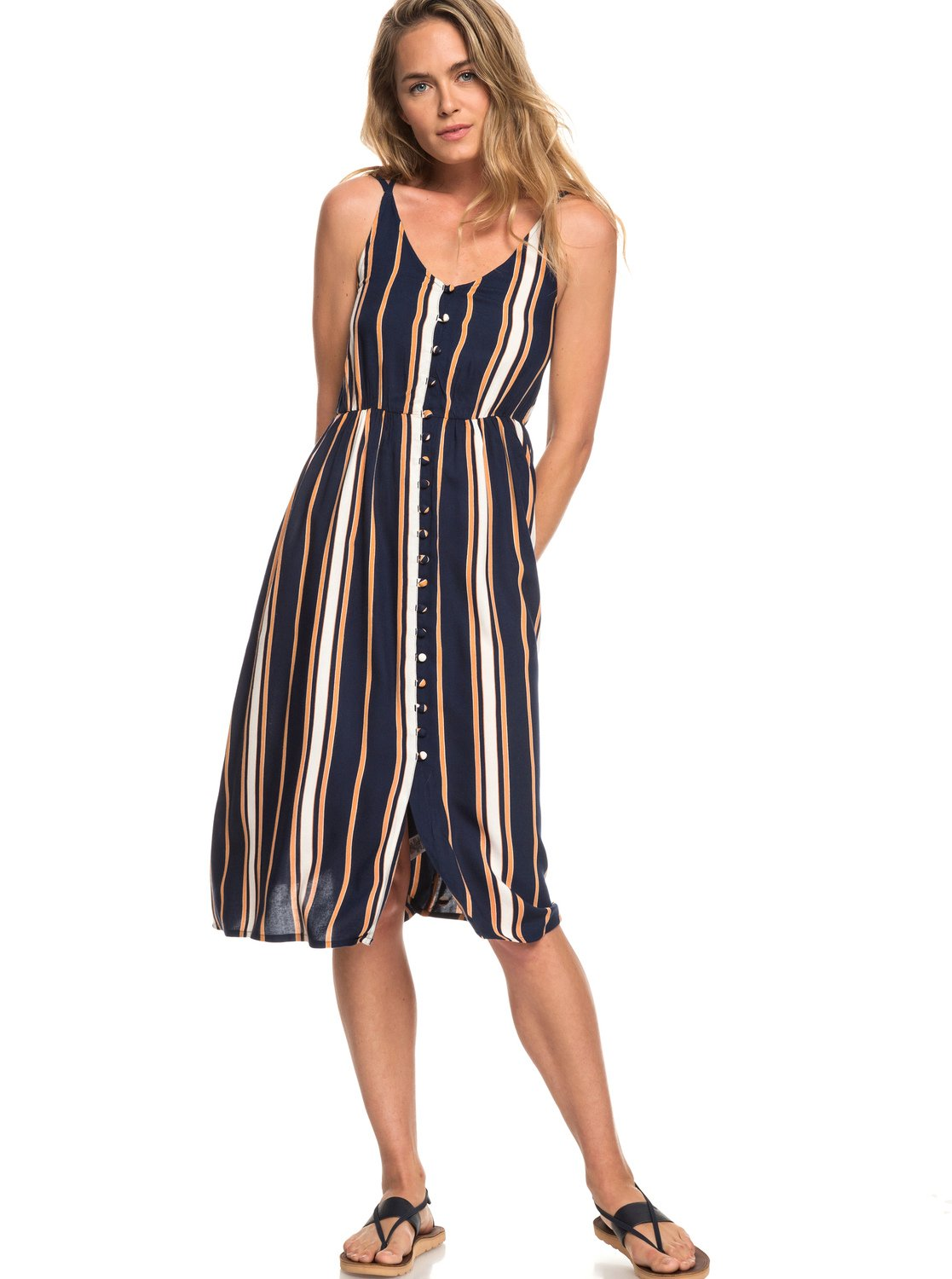 ff83ff37af5 Image is loading Roxy-Sunset-Beauty-Strappy-Midi-Dress-for-Women-