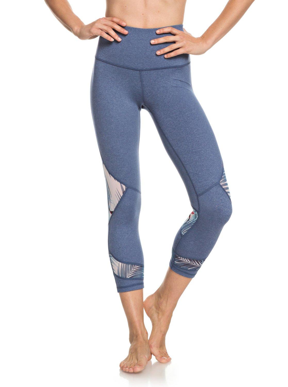 1 Diamond Hunter - Legging de sport 3 4 pour Femme Bleu ERJWP03022 Roxy 602514bd8b0