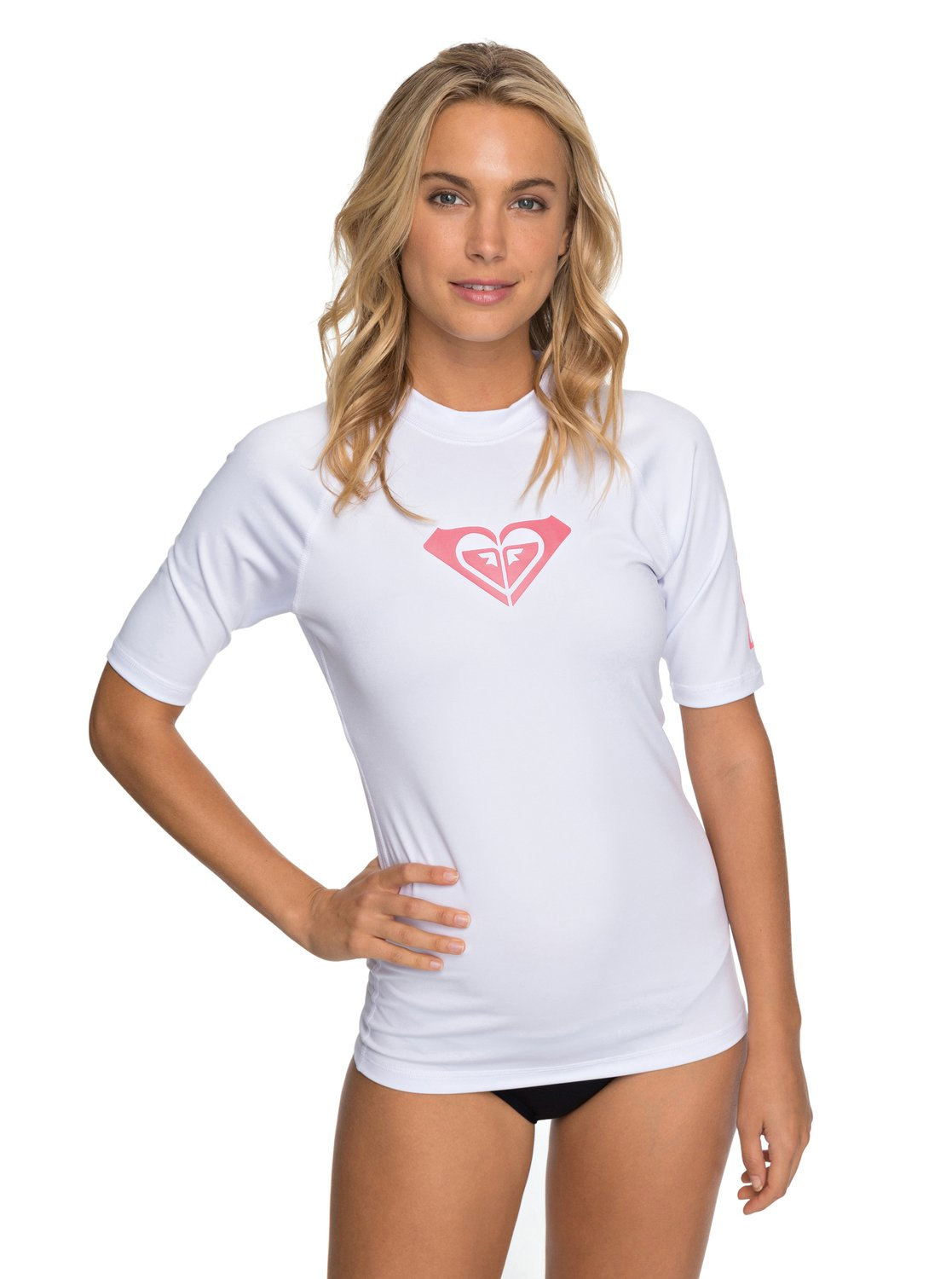 e8661302f1 0 Whole Hearted - Short Sleeve UPF 50 Rash Vest for Women White ERJWR03219  Roxy