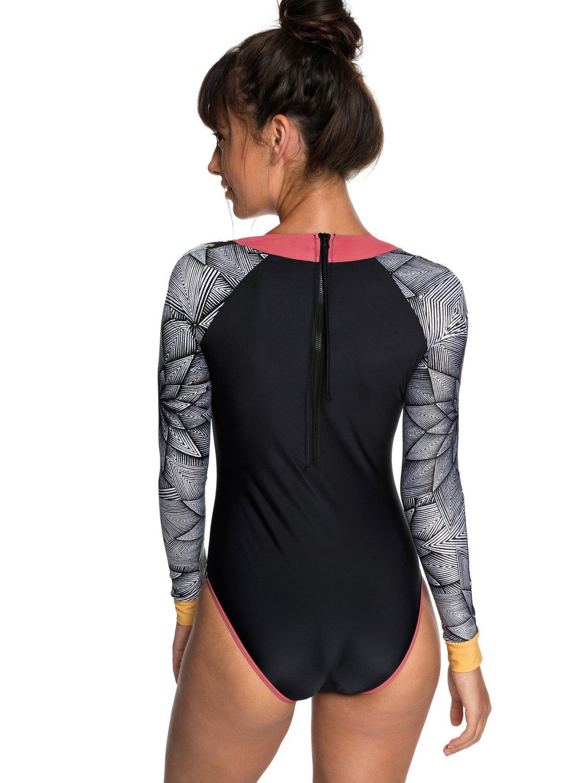 42e7c67208766 3 POP Surf - Long Sleeve UPF 50 Zipped One-Piece Rashguard for Women White