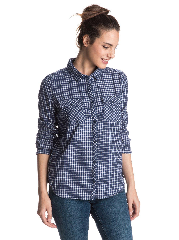 Squary Cool Long Sleeve Flannel Shirt ERJWT03098   Roxy