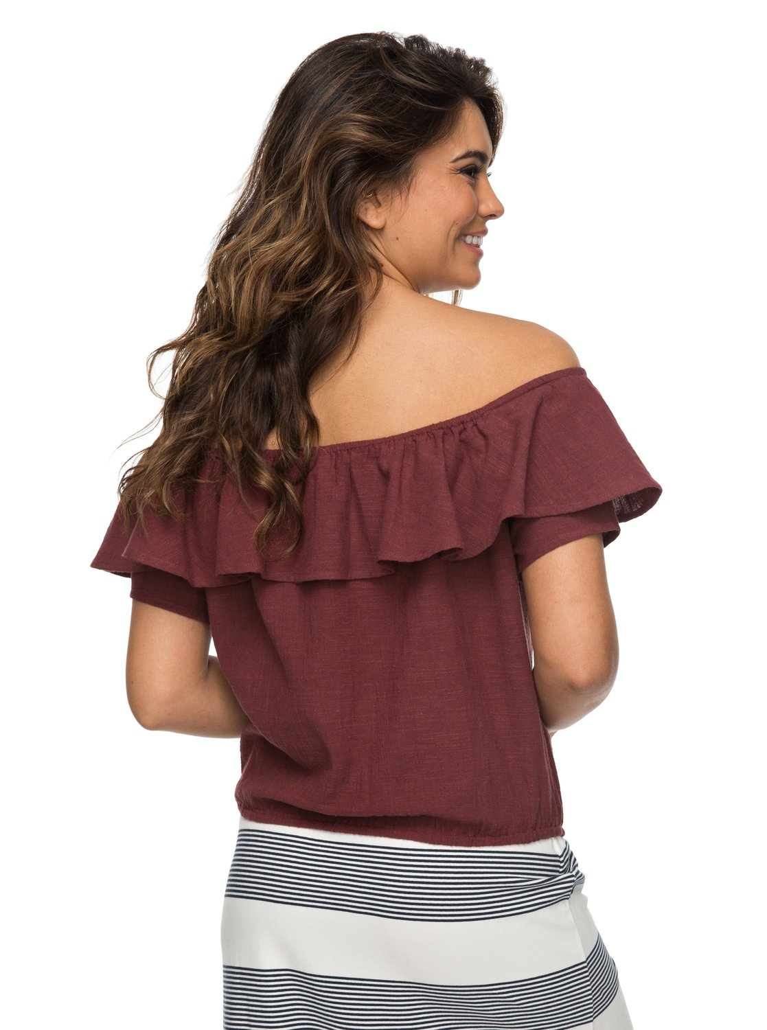 2 Desert Escape Off The Shoulder Top Red ERJWT03214 Roxy a50a22eb1