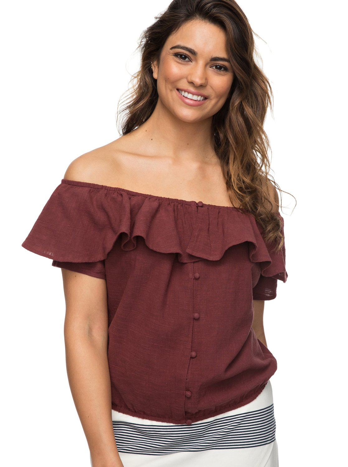 0 Desert Escape Off The Shoulder Top Red ERJWT03214 Roxy 7344e391d