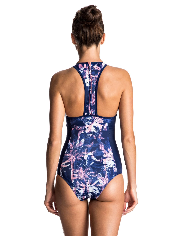 dfa41f43778c3 1 Keep It ROXY Back Zip One Piece Swimsuit ERJX103060 Roxy