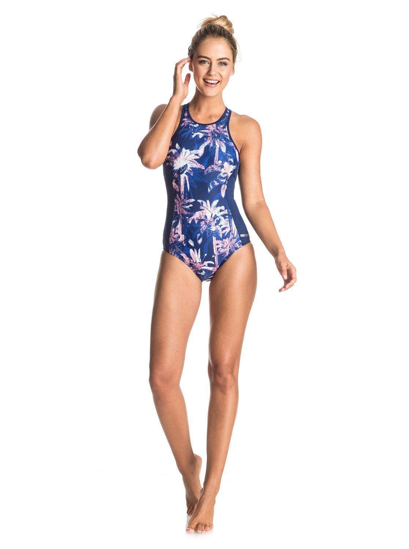 a8a657c55c 2 Keep It ROXY Back Zip One Piece Swimsuit ERJX103060 Roxy