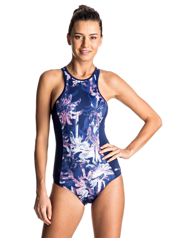 cc1bc2e55b7f6 0 Keep It ROXY Back Zip One Piece Swimsuit ERJX103060 Roxy
