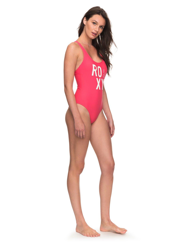 4e8aca7a12 1 ROXY Fitness - One-Piece Swimsuit for Women Pink ERJX103107 Roxy