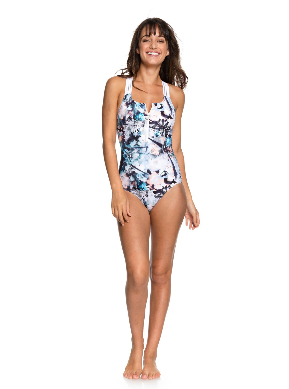 9f42604a094e 1 ROXY Fitness - Sportlicher Badeanzug für Frauen Blau ERJX103144 Roxy