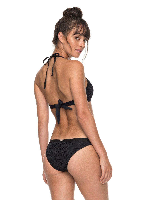 Roxy Surf Memory - Crop Bikini Top - Haut de maillot de bain - Femme - L - Noir