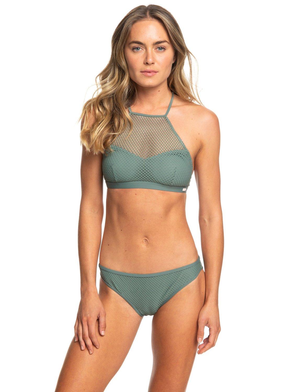 0 Garden Summers - Set Bikini con Top Accorciato da Donna Green ERJX203339  Roxy 04f90ccb0f85