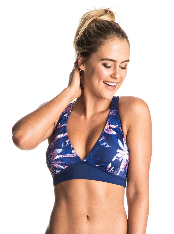Roxy Keep It Crop Bikini Top blue Bikinis Prix Le Moins Cher Prise vRjbTQDRz