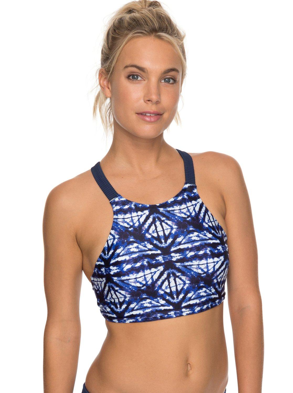 roxy fitness haut de bikini pour femme 3613373409911 roxy. Black Bedroom Furniture Sets. Home Design Ideas