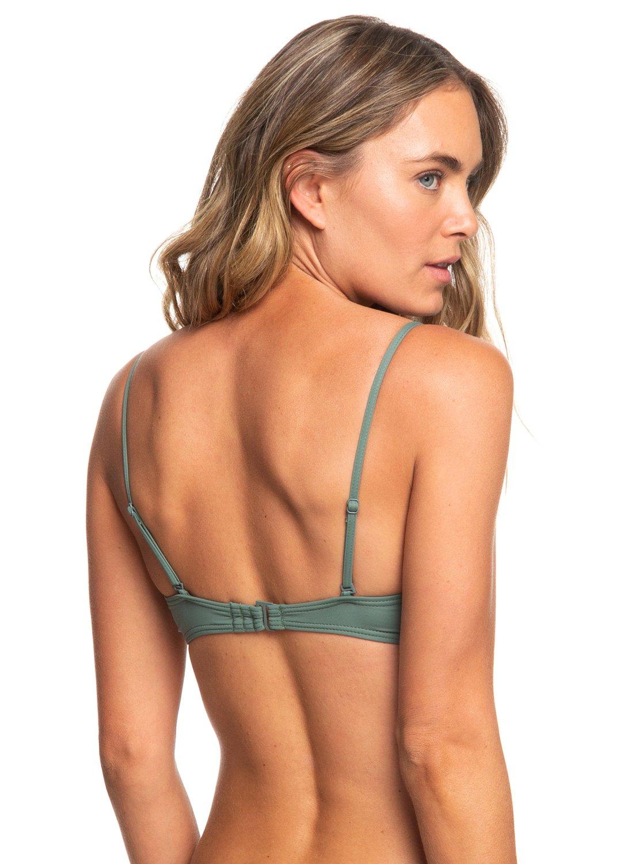 4 Garden Summers - Reggiseno Bikini a Fascia con Ferretto Sagomato da Donna  Green ERJX303849 Roxy 83c54bebd295