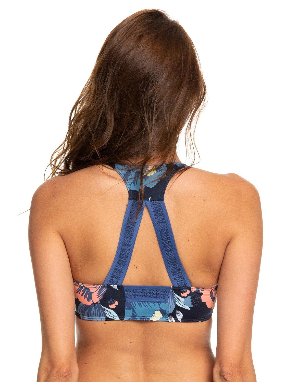 2 ROXY Fitness - Haut de bikini brassière sport pour Femme Bleu ERJX303851  Roxy 1ff906cdca4